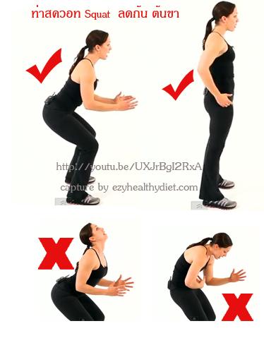 ออกกำลังกายท่า สควอท squat กระชับก้น