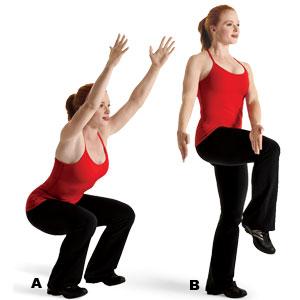 ออกกำลังกายกระชับสัดส่วนโดยไม่ต้องใช้อุปกรณ์ ท่าที่1 Chair Pose Squat