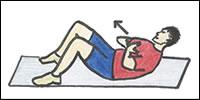 ท่า Abdominal crunches ฝึกกล้ามเนื้อหน้าท้อง