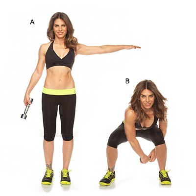 Side squat with figure 8