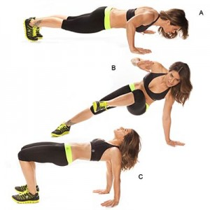 Hip heist push-up