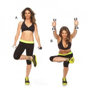 Figure 4 squat with front shoulder raise